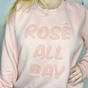 Rosé' all day sweater